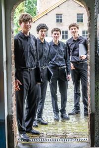 Van links naar rechts: Daan van der Schaft, Ernesto Schuddeboom, Stijn Claerhoudt, Willem Peek